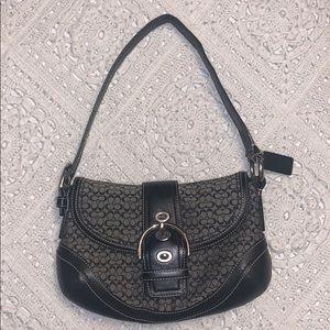 Coach monogram baguette purse